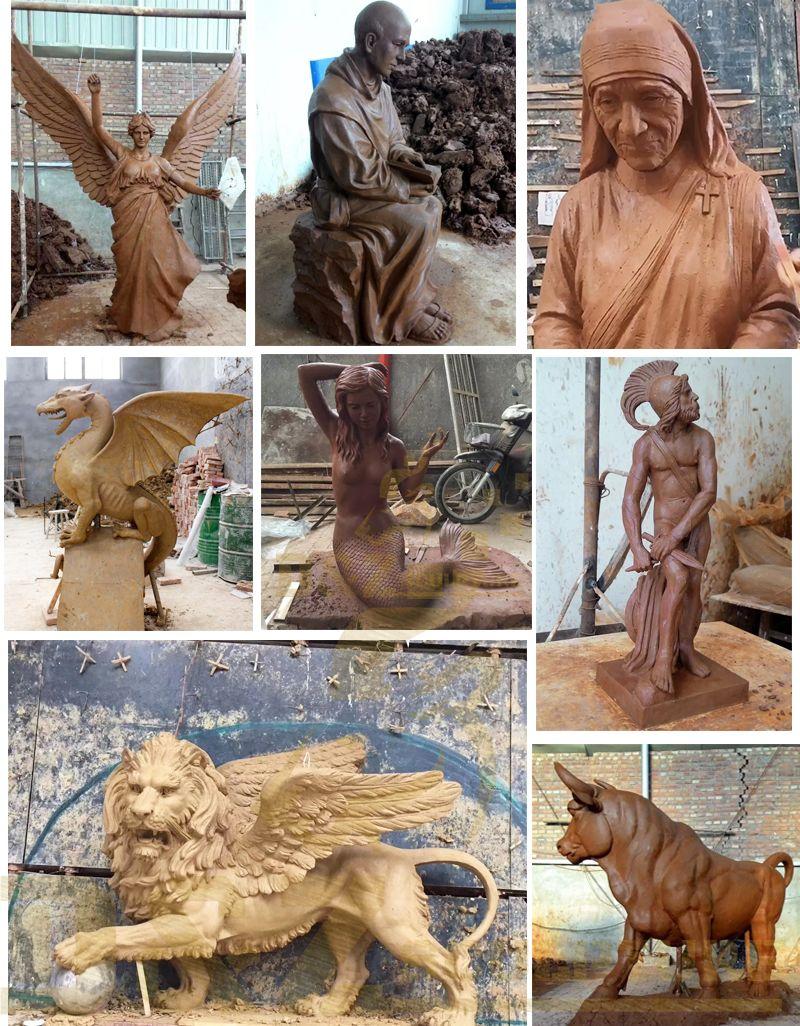 Outdoor Art Bronze Traveller Sculptures