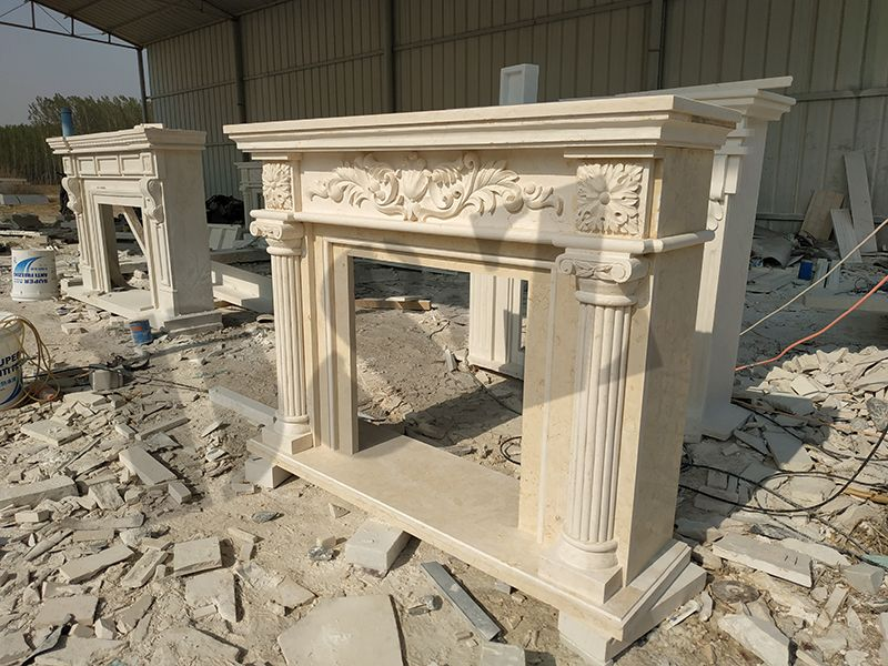 outdoor marble fireplace electric fire place