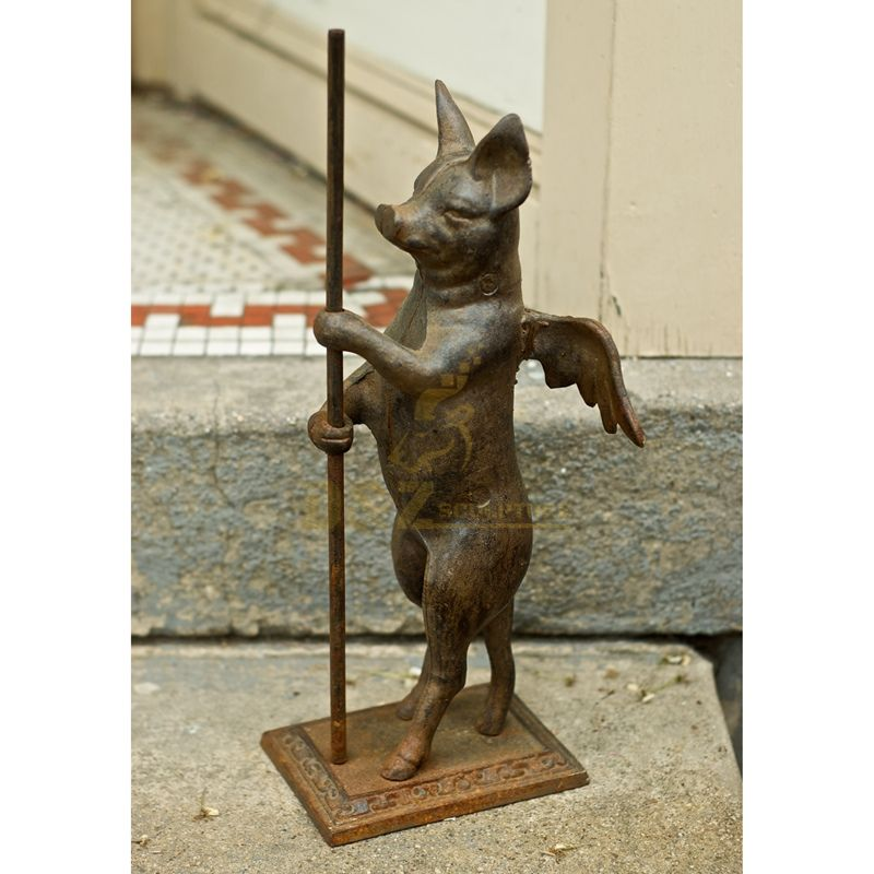 Outdoor Life Size Animal Statue Brass Pig Statue