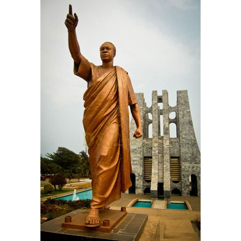 athlete figurine statue hand cast bronze golden sculpture