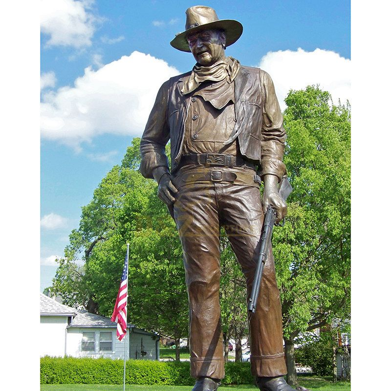 Cast Bronze Cowboy Sculpture