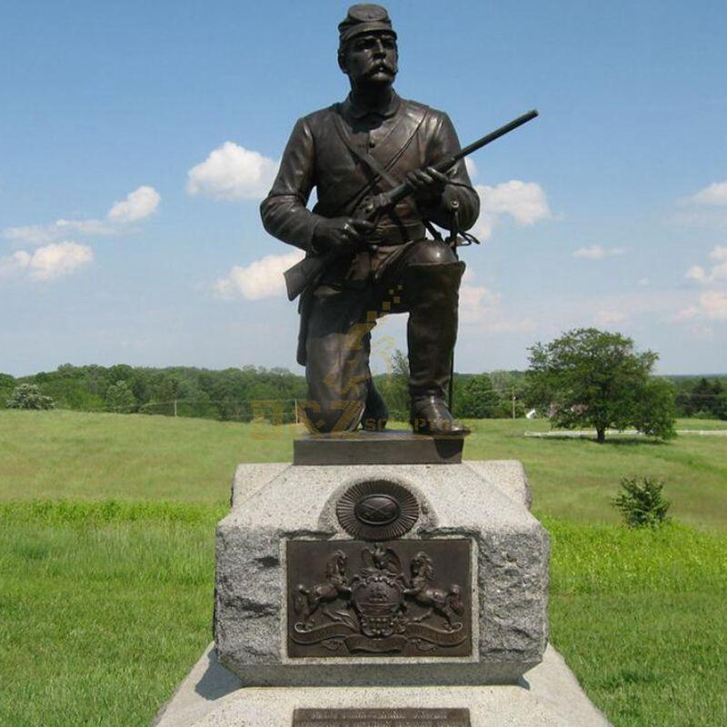 Park decoration casting metal sculpture bronze life size soldier statue