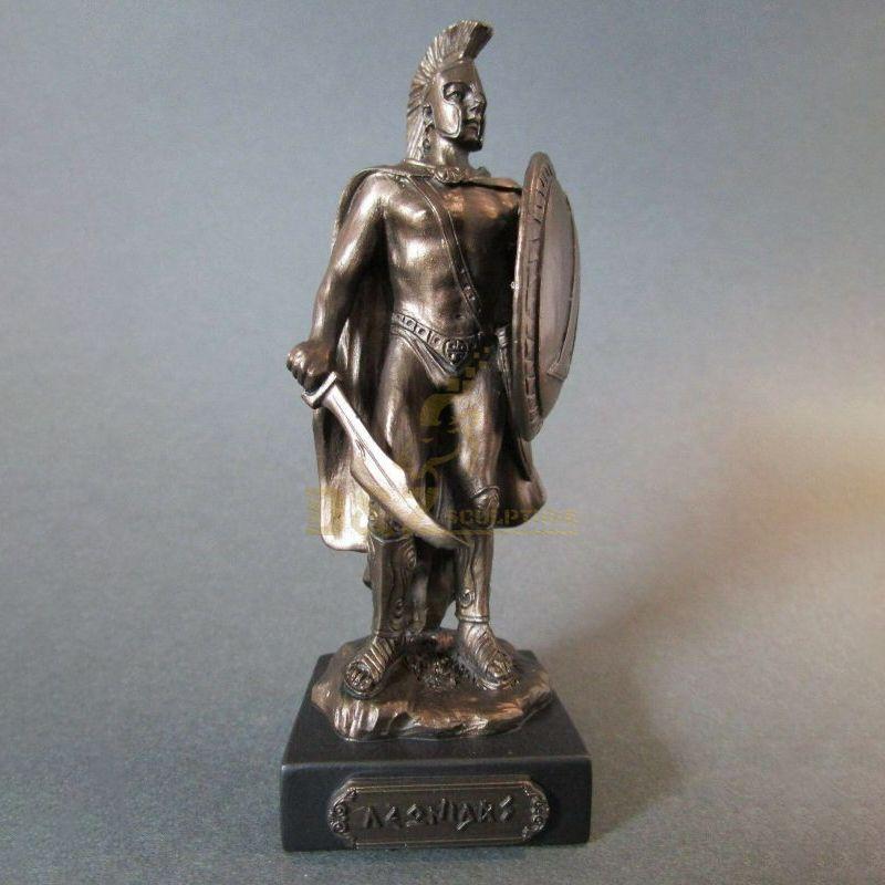 Greek Warrior Of Sparta Bronze Finish Statue