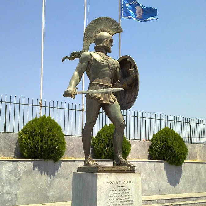 Ancient Greek life size warrior bronze Roman soldier statue for sale