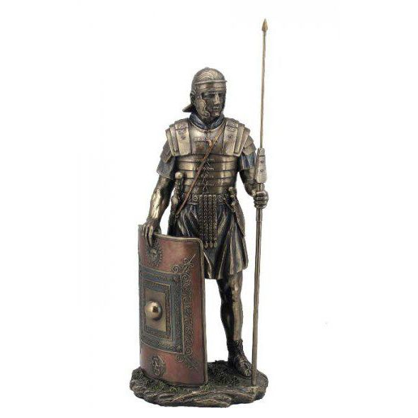 Bronze life size roman evil spirits shield warrior statue sale
