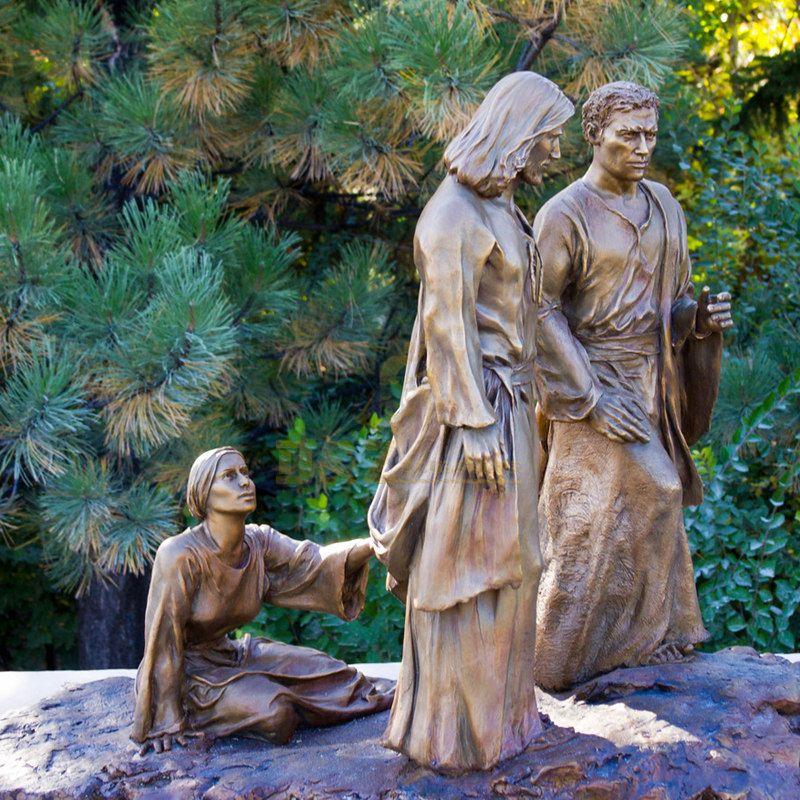 Catholic Church High Quality Metal Cast Handmade Jesus And Saints Statue