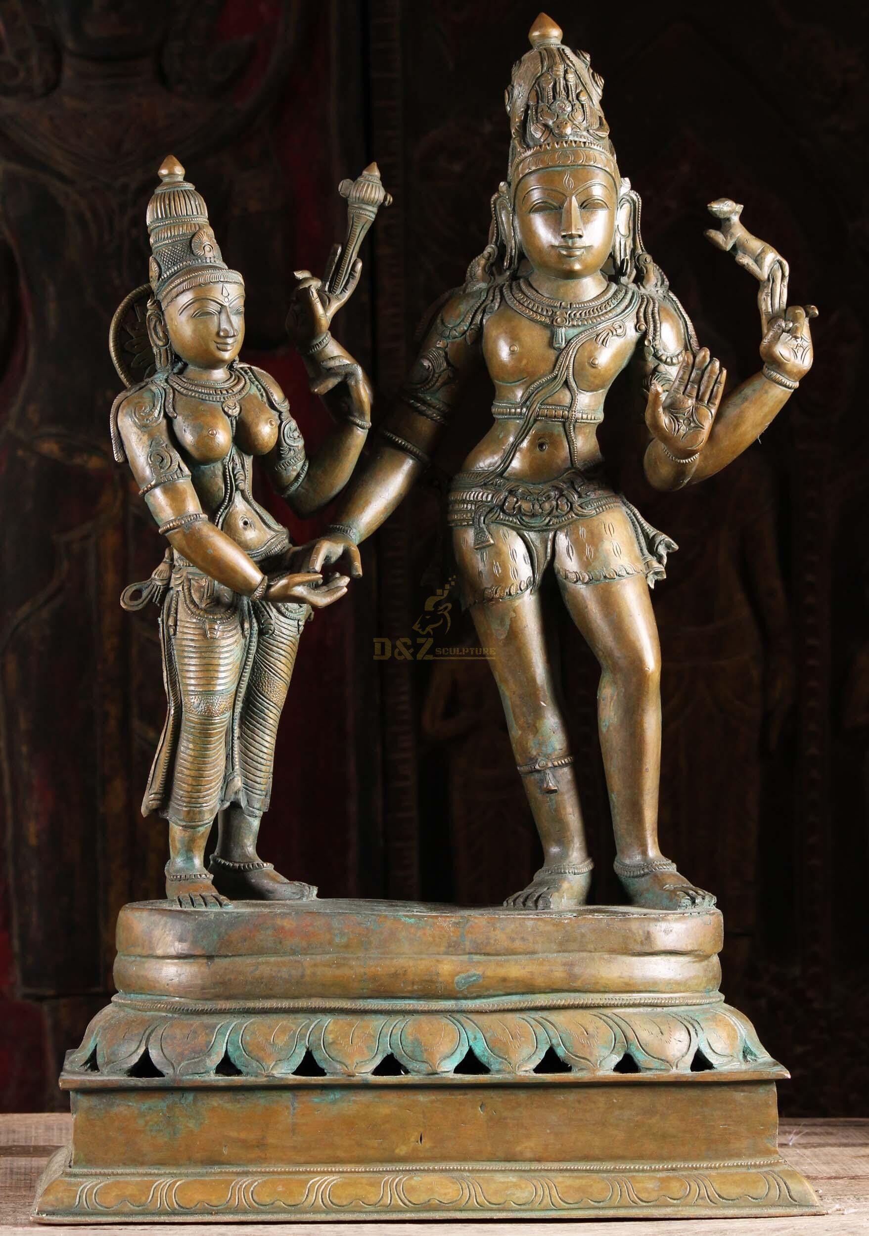 hot designs Casting Bronze Lord Shiva Statue For Temple Decoration for sale