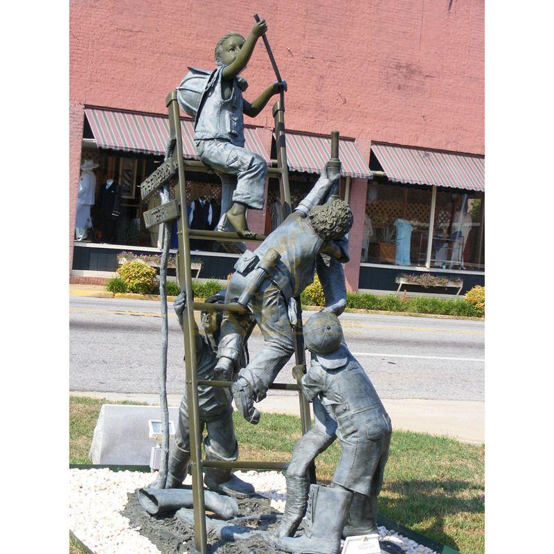 hot sell yard art metal craft bronze children statue