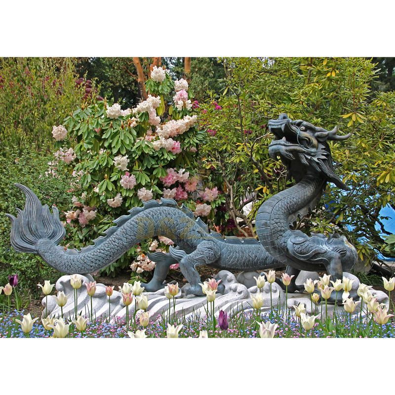 Large bronze dragon water fountain for garden decoration