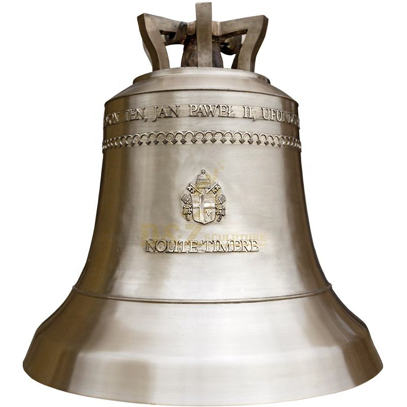 Custom made cast bronze Bell with rose