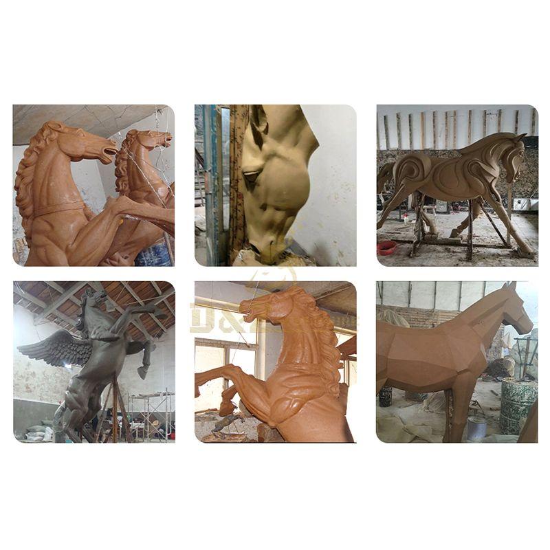 Life-size horse sculptures