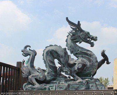 Outdoor Chinese dragon garden statue