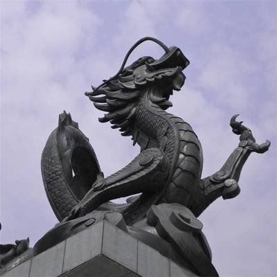 large Chinese dragon garden statue