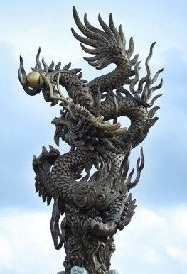 Outdoor Chinese dragon statue for sale