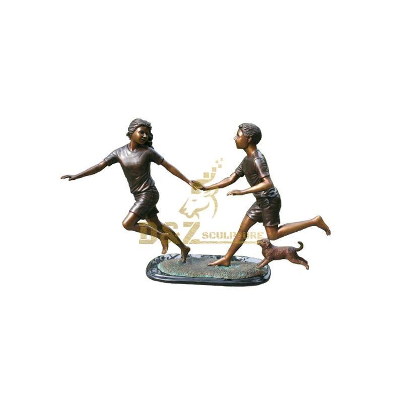Boy and Girl Garden Statues