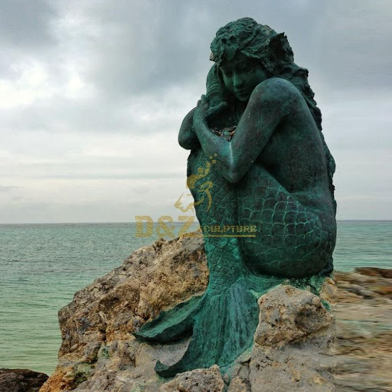 Fairy Tale Bronze mermaid statues sculptures