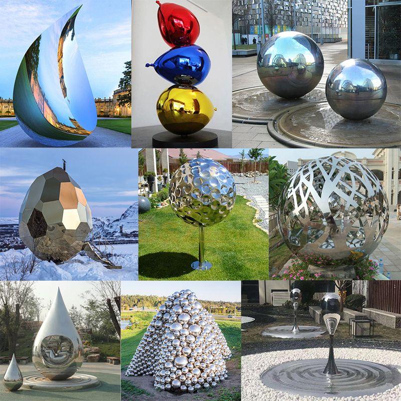 Stainless Steel Football Sculpture
