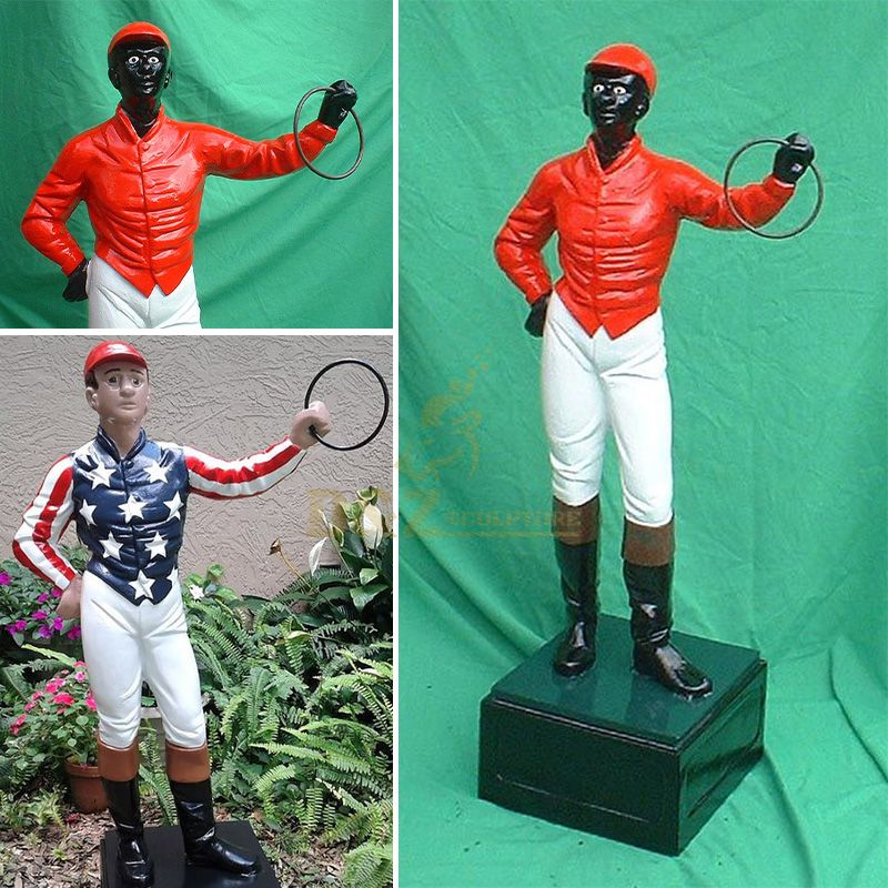 Black lawn jockey statue for sale