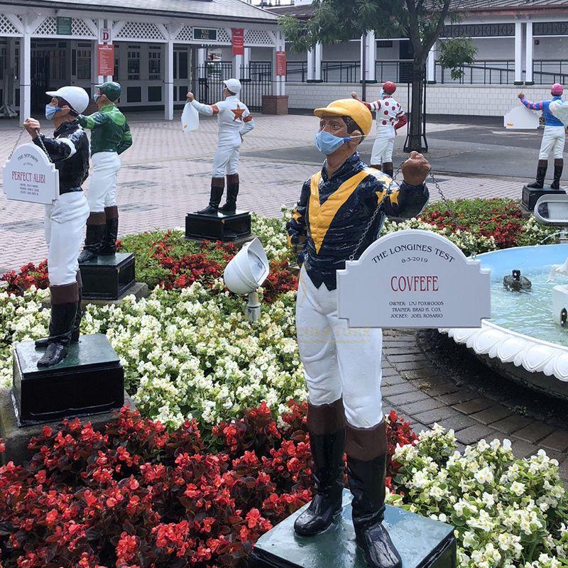 lawn jockey statue