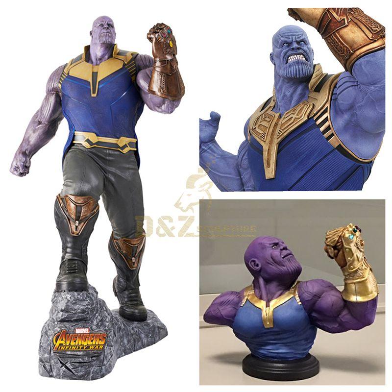 Resin Art Superhero Thanos Statue