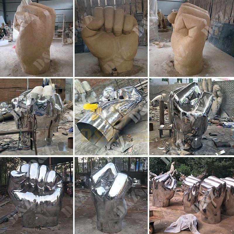 hand statue decor