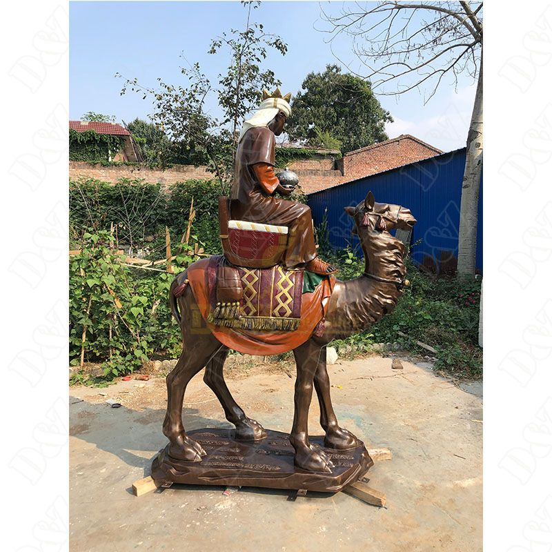 Large Size Desert Camel Riding Bronze Statues For Sale