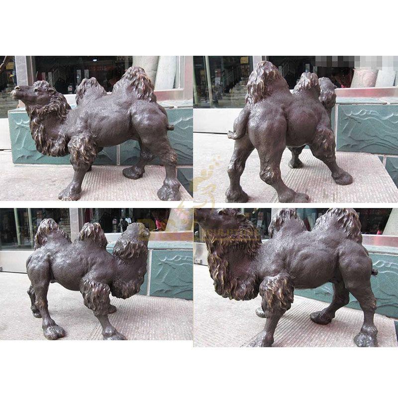Outdoor garden life size bronze camel statue for sale