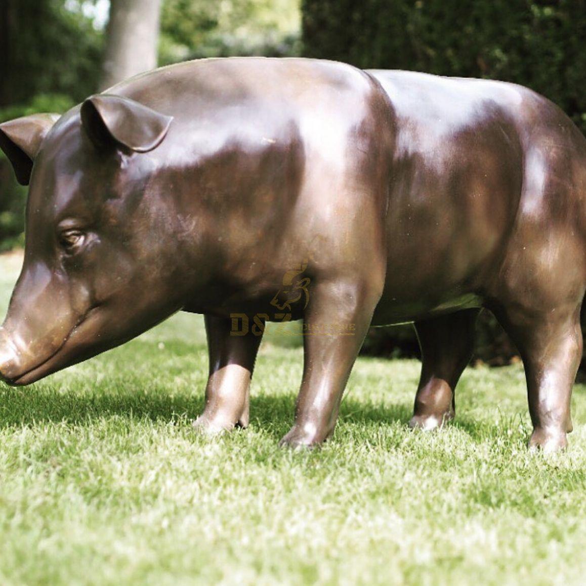 Brass Pig Statue