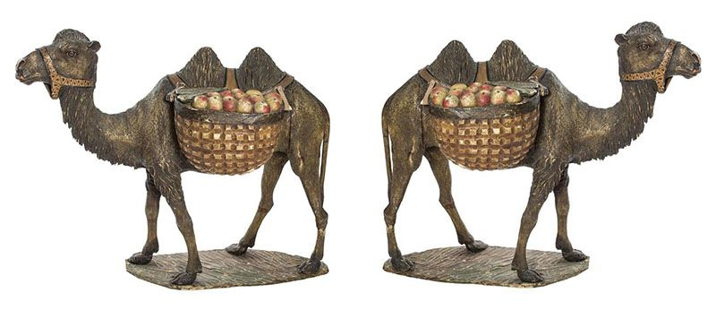 Life size bronze camel sculpture for park decoration