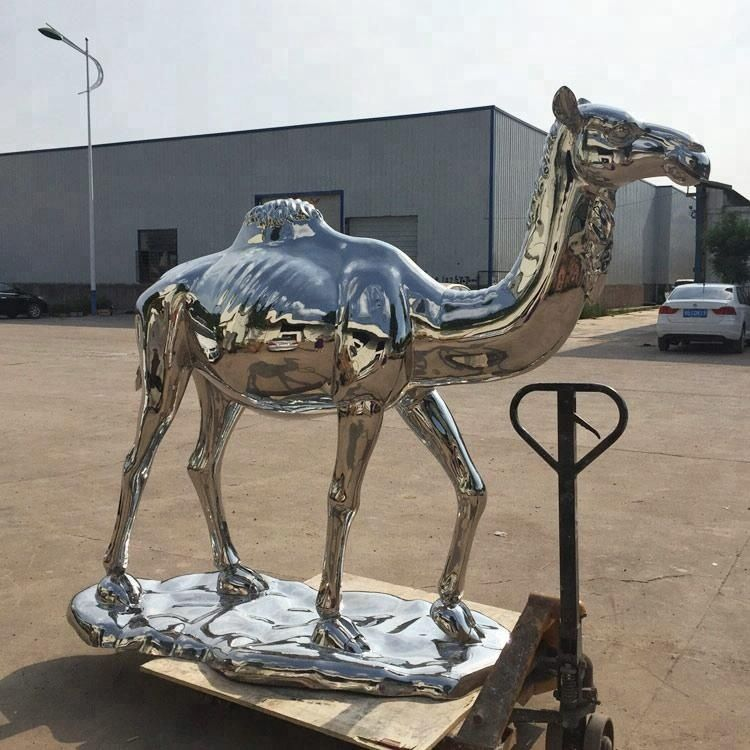 Stainless steel camel animal sculpture