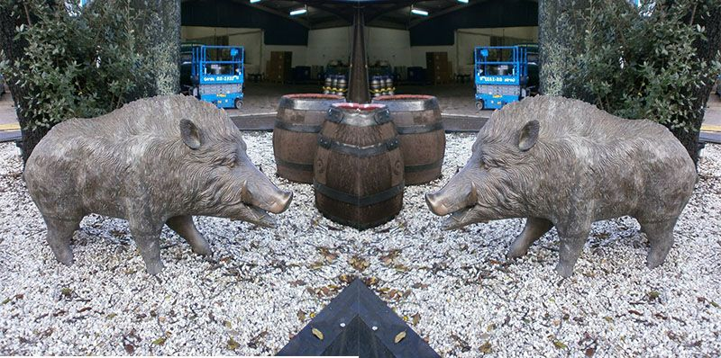 Life size metal animal sculptures bronze wild boar statues for sale c