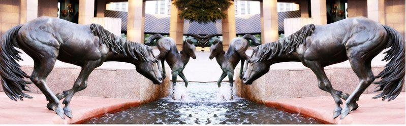 outdoor horse statue