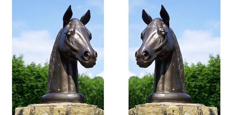 horses head sculpture
