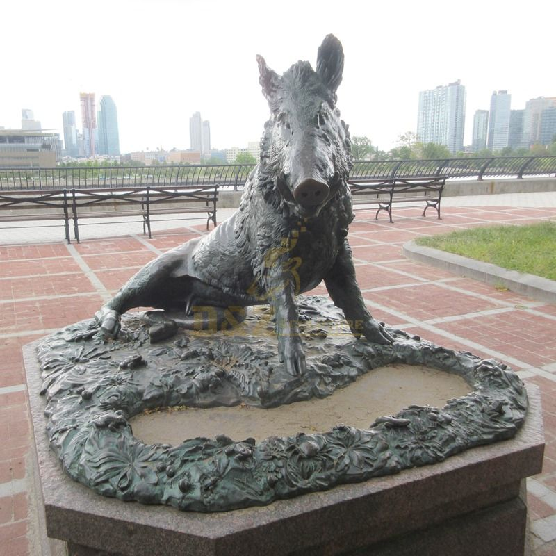 Best Price Outdoor Famous Bronze Wild Hogs Sculpture For Sell