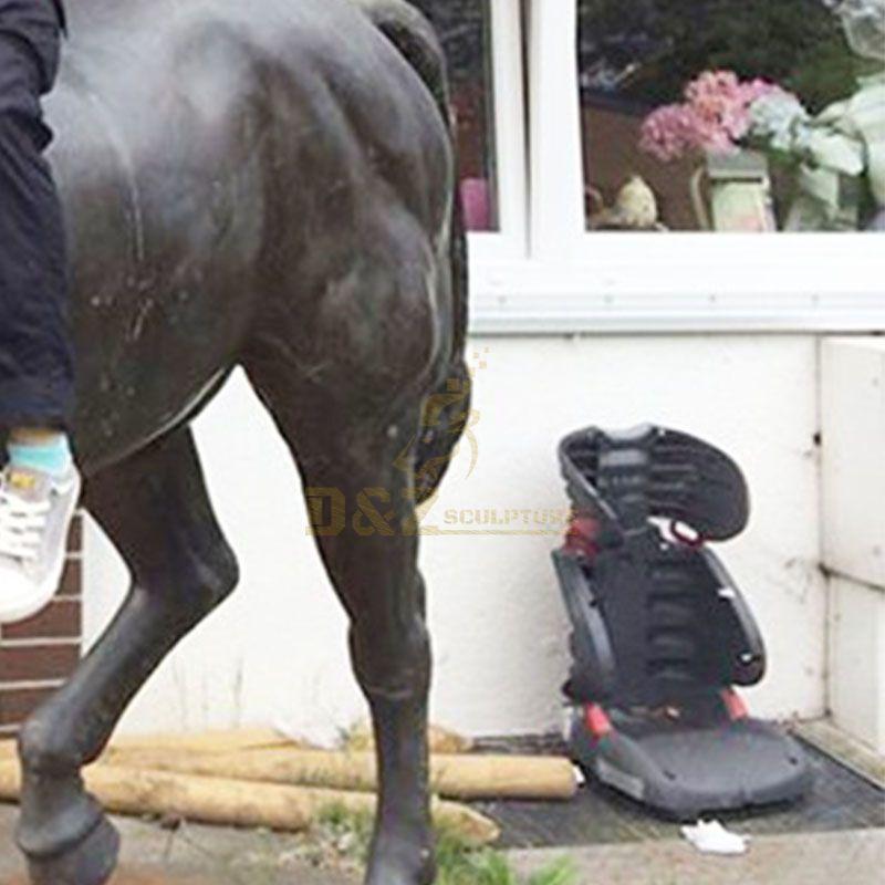 Outside Bronze Horse Sculpture