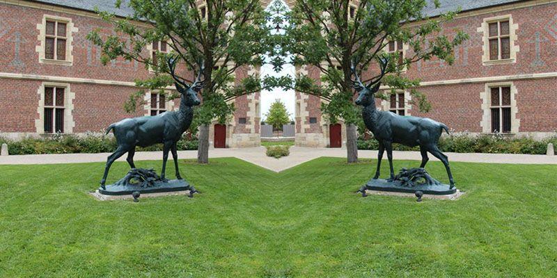 Garden Decoration Animal Bronze Antelope Sculpture