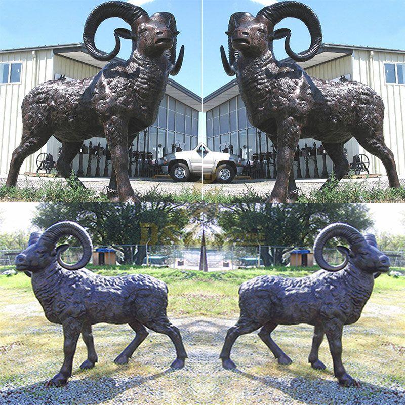 Outdoor bronze ram statue for sale