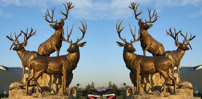 Customized Size Bronze Antelope Sculpture