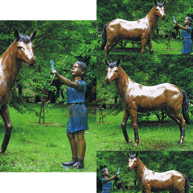 horse statues garden