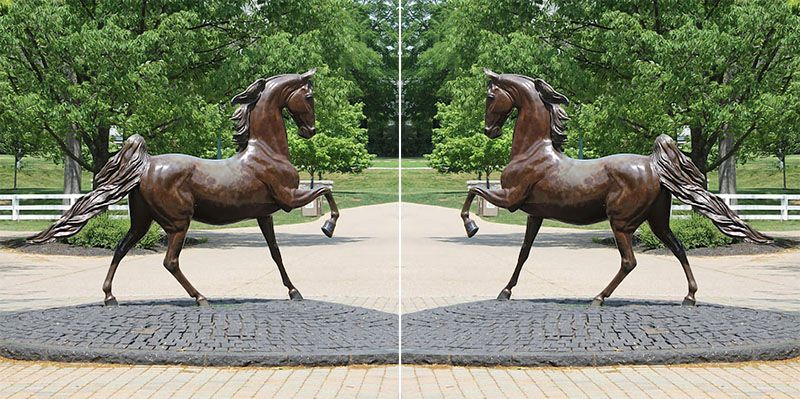 horse statues for gardens