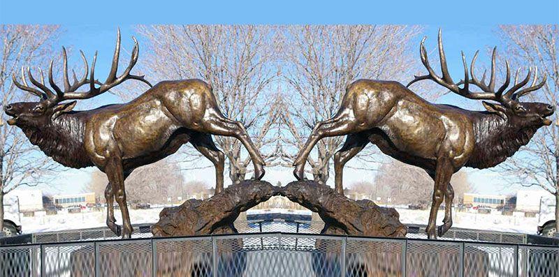 Outdoor Large Bronze Animal Antelope Sculpture