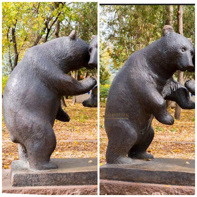 Outdoor Large Standing Animal Bronze Bear Sculpture
