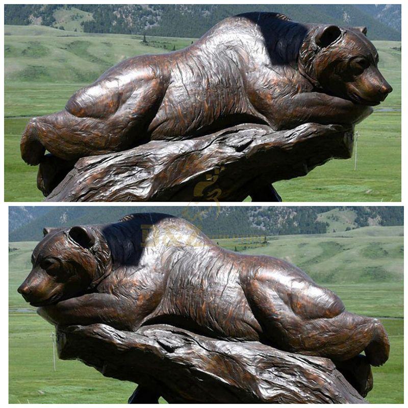 Customized Design Decorative Bronze Bear Sculpture