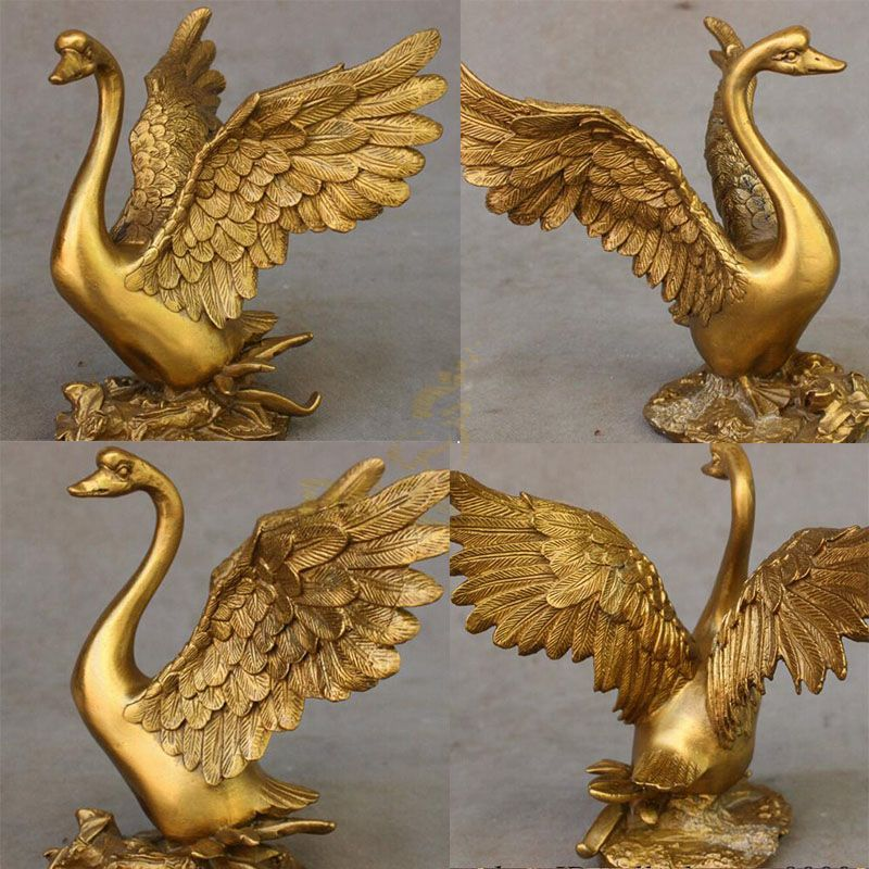 Brass swan statues for sale