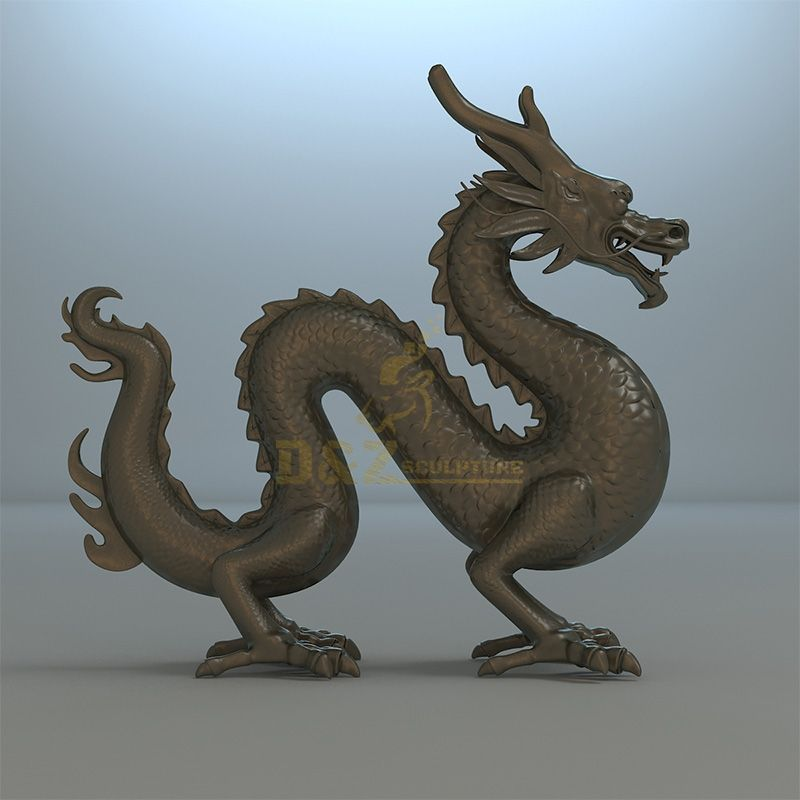 Bronze Chinese dragon statue for sale