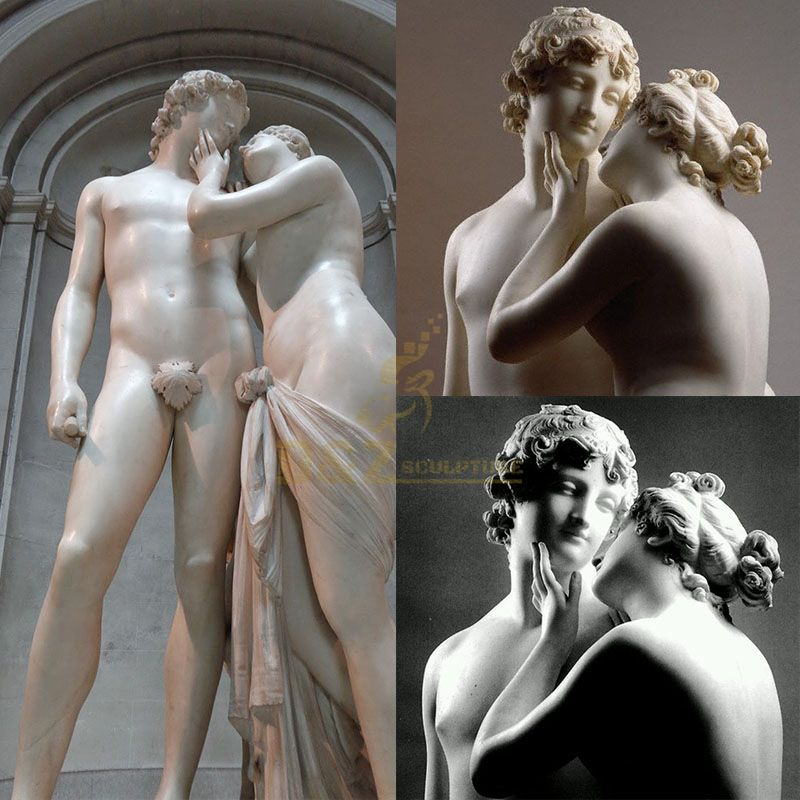 Famous life size Adonis and Aphrodite Venus statue