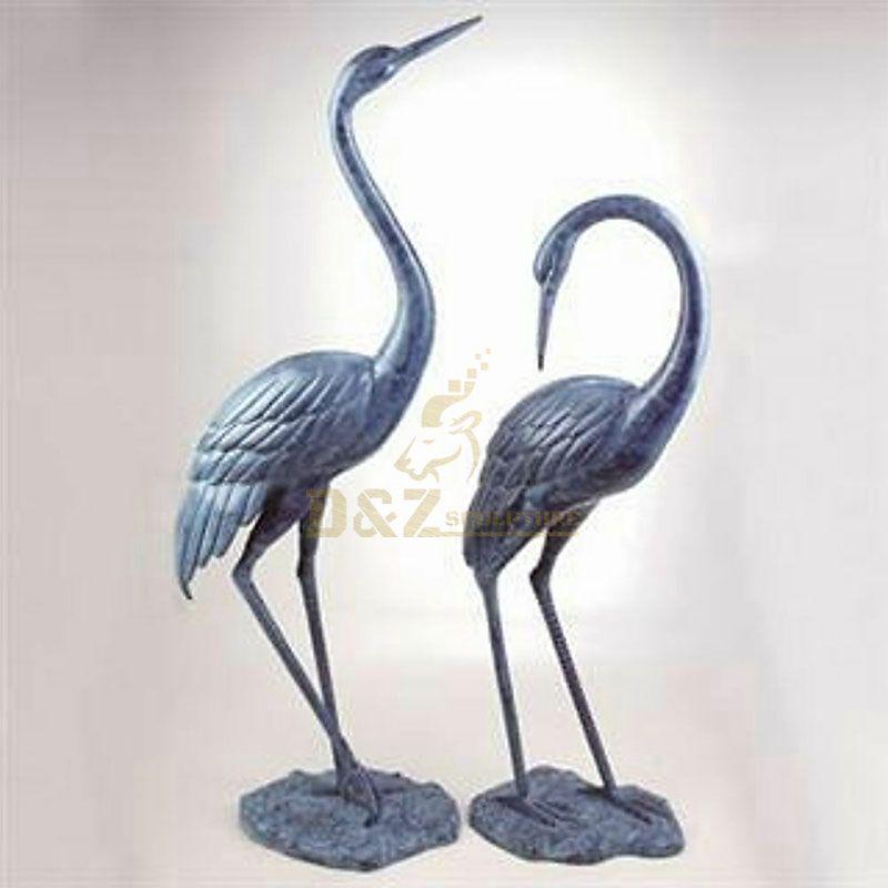 Metal sandhill crane garden statues for sale