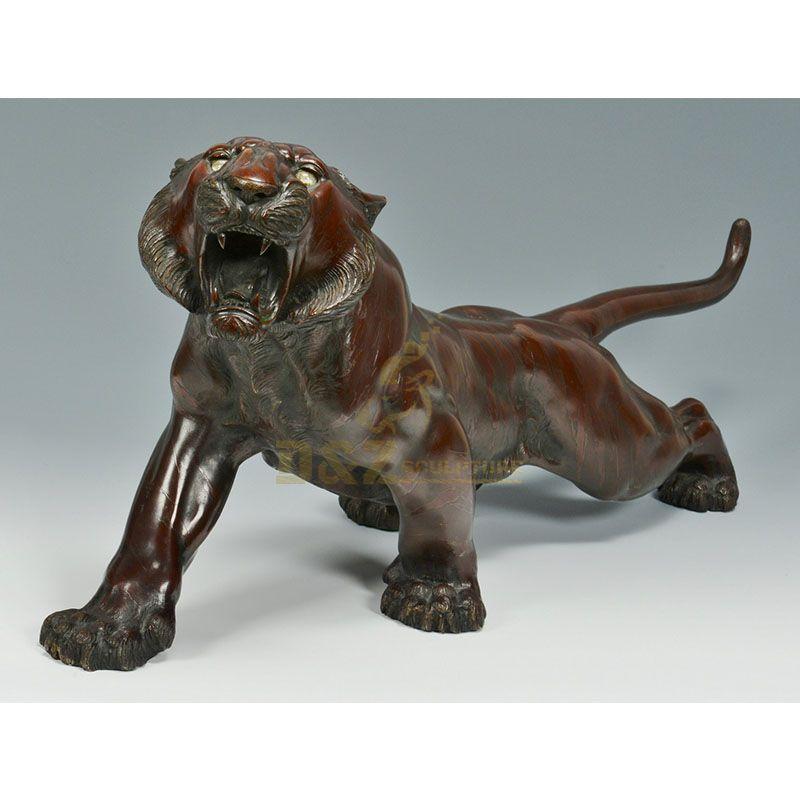 Antique bronze tiger statue home decor for sale