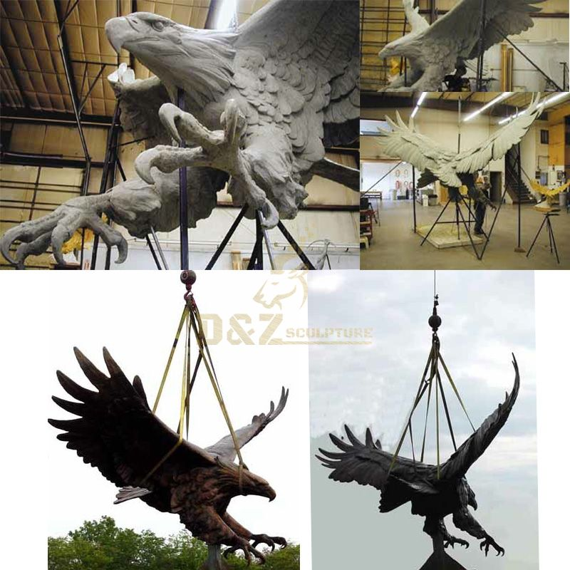 bronze giant eagle statue for sale