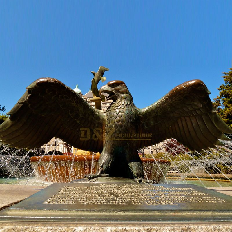 Outdoor eagle statue